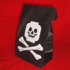 Building Block Pirate Birthday Party Treat Sacks LEGO (R) Theme Goody Bags by jettabees on Etsy