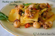 Paccheri con Seppioline e Zucchine