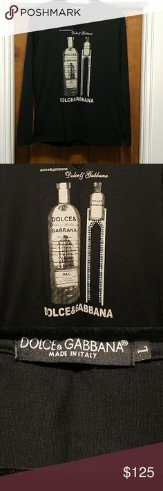 Men's Dolce & Gabbana Long Sleeve Shirt. Men's Dolce & Gabbana Long Sleeve stretch material shirt with Crystal accessories. Size runs small as it is a form fitting piece.  Promotional product / Limited / New without Tags / Well Kept.  Price is negotiable.  All Offers will be considered.  Worn Once for Dolce & Gabbana Promotional Event. Dolce & Gabbana Shirts Tees - Long Sleeve