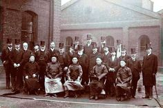 The visit of Duke Tsai Tse and members of the Imperial Chinese Commission to the Metropolitan Railway Carriage Works, Saltley on May 14, 1906. This photo was taken by Sir Benjamin Stone and is thanks to the Library of Birmingham.
