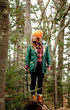 Minus the orange hat and those style LL Bean boots, i want this outfit