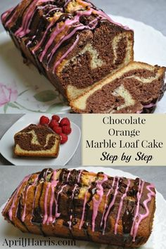 Chocolate Orange Marble Loaf Cake recipe - an easy to make, impressive cake that tastes delicious!