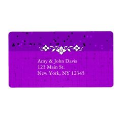 Create your next set of Purple labels on Zazzle! Choose from different sizes and shapes of mailing and address labels to customize today! Custom Address Labels, Return Address Labels, Purple Wedding, Create Yourself, Personalized Address Labels, Return Address Stickers