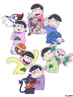 Best Crossover, Anime Crossover, Pokemon, Still In Love, Ichimatsu, South Park, Vocaloid, Kawaii Anime, Disney