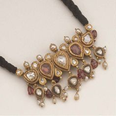 INDIAN PEARL DIAMOND AND SPINEL NECKLACE