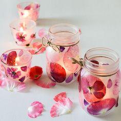 Flower Petal Candle Holders