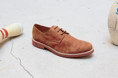 Derby shoe in vegan suede from Good Guys #vegan #shoes #men