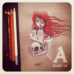 A is for Annabel Lee. The ABC of E.A. Poe by David G. Forés.  (http://instagram.com/donvito)