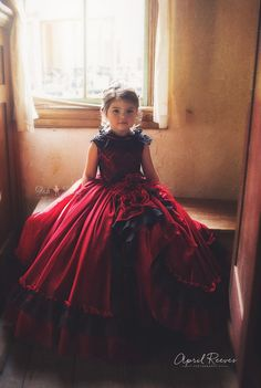 "FabTutus | Products | Flower Girl Dress | ""Red Anemone"" Dress"