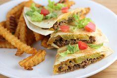 #RECIPE - Bacon Cheeseburger Quesadillas