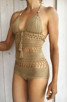 PDF-file Crochet PATTERN for Giana Swimsuit onepiece body