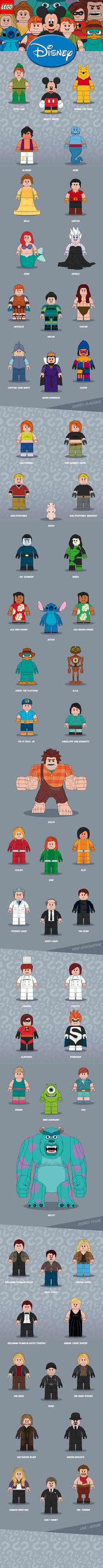 Disney // LEGO Minifigures on Behance