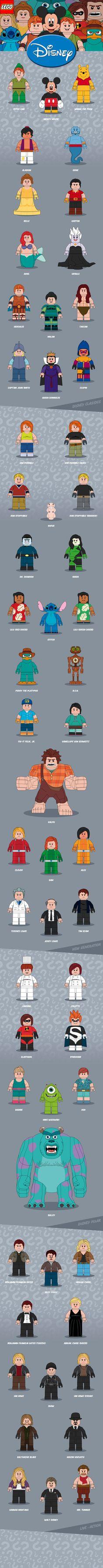 Disney // LEGO Minifigures on Behance