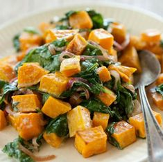 feta instead of blue cheese? Butternut Squash with Wilted Spinach and Blue Cheese Best Butternut Squash Recipe, Blue Cheese Recipes, Vegas, Whole Foods Market, Vegetable Side Dishes, Whole 30 Recipes, Side Dish Recipes, Holiday Recipes, Spinach