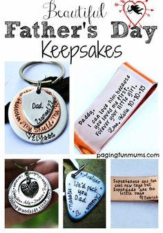 Beautiful Father's Day Keepsakes. Easy to order gifts to last a lifetime!