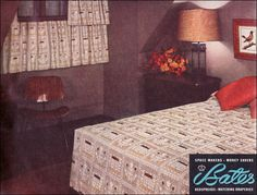Source: 1953 Better Homes & Gardens From the Mid Century Home Style collection. Traditional Bedroom, Modern Traditional, Mid-century Modern, Mid Century Modern Bedroom, Mid Century House, Vintage Bedspread, Retro Room, Mid Century Design, Better Homes