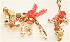Hurry Xmas necklace OOAK  one year ago~ ^^