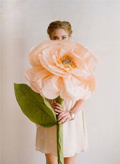 make giant flowers.  photo Elizabeth Messina