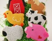 Farm Animal Cookies (24 favor, bagged & bowed) - Choose Any Design(s). $54.00, via Etsy.