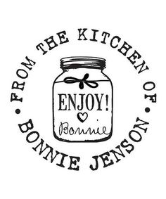 Personalized 'From the Kitchen of' Stamp.