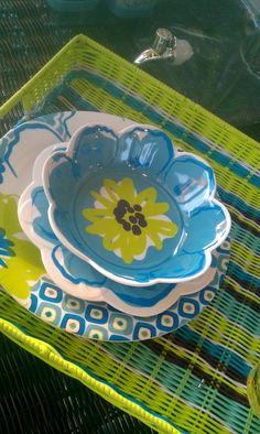 Pier 1 Catalina Cove Dinnerware- so pretty & different from the usual yellow