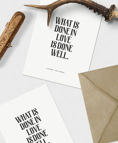 What is done in love is done well - PRINTABLE FILE. Van Gogh Quote Print. Inspirational Print. Typography Printable. Gallery Wall Print.