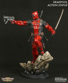 Sideshow Collectibles - Deadpool Action Polystone Statue