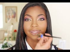 ▶ Fall Berries/Gold Makeup Tutorial - YouTube #africanamerican #beauty #makeup
