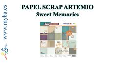 Papeles de scrapbooking Artemio Sweet Memories. Papeles vintage, retro. Esta colección en MYBA la puedes ver aquí: http://www.manualidadesybellasartes.es/8148/es/search.aspx?searchTerms=sweet+memories