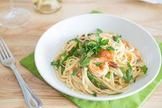Shrimp Linguine with Asparagus -- Perfect for quick weeknight meals!