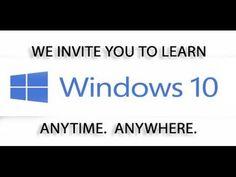 Learn Windows 10, Windows 10 Tutorial - YouTube