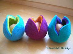 Eierwärmer - Ups, dem Ei wird kalt - Eierbettchen - ein Designerstück von Farbenzauber bei DaWanda (Kaufartikel)