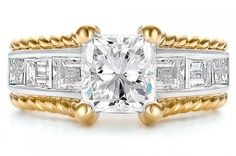 GIA Certified 1.00ct Flawless Radiant Cut Diamond Engagement Ring 18K White Gold #SolitairewithAccents