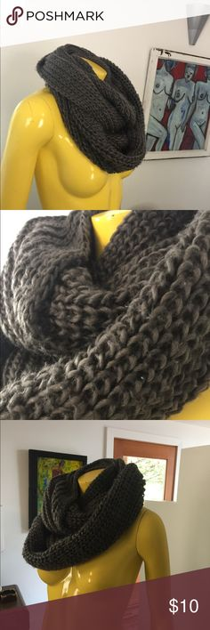 Gray knit infinity scarf. Gray knit infinity scarf. Accessories Scarves & Wraps
