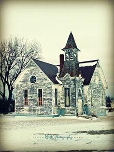 A church in Flora,ND