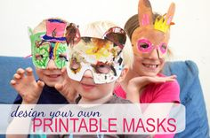 Free Printable Mask pattern  Would be fun for kids to design masks for their character before a reader's theater.