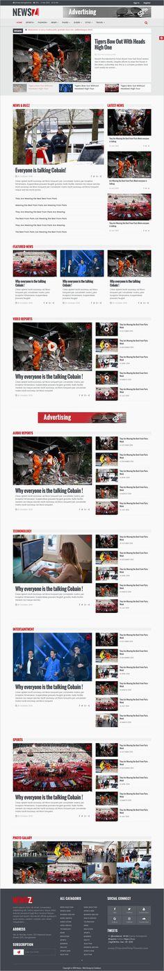 NewsZ is a clean, modern responsive #HTML Template for #magazine, blog and #news websites download now➩   https://themeforest.net/item/newsz-news-magazine-html-template/18642479?ref=Datasata