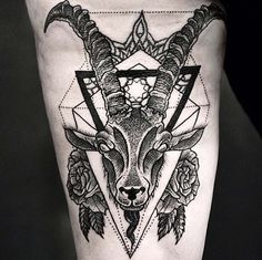 http://tattoomagz.com/goat-tattoos/amazing-goat-leg-tattoo/