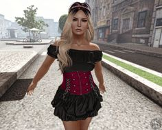 http://inventorymess.blogspot.com.br/2015/05/mili-1515.html  https://www.flickr.com/photos/inventorymessblog/17583591852/ Dress: .: LIKE DESIGN :. Corset Dress ( With Colors HUD ) {by ĐεƔⓘℓ (deviltearz)} @ GANGSTA FAIR *tyvm* Hair: little bones. Windsong (L) {by Nova Faerye} Skin: .alterego. lydia [caramel] {by BitchZilla (toxxic.rhiannyr)} NEW *tyvm* Pose: Vestige Blank Space 3 {by Vestige Poses (vestigecreations)} @ THRIFT SHOP *tyvm*