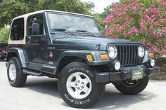 2002 Green Sahara - Automatic, Air Condition, 168k Miles, Hard Top, Perfect Tow Jeep! http://www.selectjeeps.com/inventory/view/7734282?2002+Jeep+Wrangler+2dr+Sahara+League+City+TX