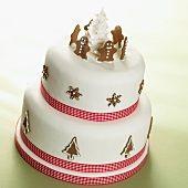 A two-tier Christmas cake - StockFood