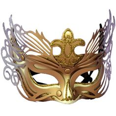 Adult Gold And Silver Detail Venetian Mask