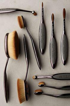 The most incredible make-up brushes. Make-up brush set. Artis Ten Brush Set Smoke Set Of 10 Makeup Morphe, Love Makeup, Beauty Makeup, Make Up Brush, Mascara Hacks, Nail Design Spring, Make Up Gold, Make Up Organizer, Tips Belleza