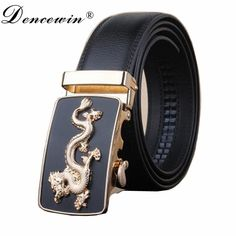 2017 High Quality Male Brand genuine Leather Belts for Men special letter Automatic Buckle Strap free shipping #Affiliate