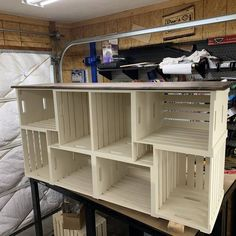 DIY Cabinet built from crates! Made into a comic book cabinet. DIY Cabinet built from crates! Rustic Furniture, Home Furniture, Steel Furniture, Kitchen Furniture, Furniture Ideas, Primitive Furniture, Smart Furniture, Furniture Dolly, Furniture Removal