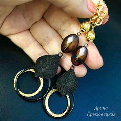#ручнаяработа #хэндмейд #дизайнерскоеукрашение #черныйагат #чернаясмола #лава #текстиль #фурнитурапозолота #фурнитурачернение #полосатыйагат #эксклюзив #качество Drop Earrings, Jewelry, Jewlery, Jewerly, Schmuck, Drop Earring, Jewels, Jewelery, Fine Jewelry