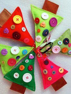One Christmas Tree- Christmas Decoration Christmas Math, Christmas Tree Crafts, Holiday Crafts For Kids, Colorful Christmas Tree, Holiday Ornaments, Christmas Holidays, Christmas Decorations, Christmas Ideas, Xmas Trees