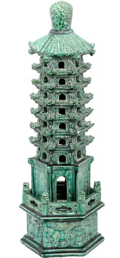 Chinese Pottery Pagoda - Tower