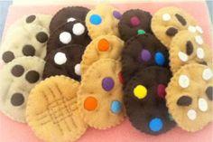 felt FOOD cookies tea party ornament treat. $9.00, via Etsy.