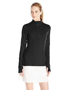 Puma Golf Womens 14 Zip Long Sleeve Popover Jacket Black Medium ** Continue to the product at the image link.